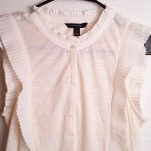Banana Republic ruffles sleeve blouse